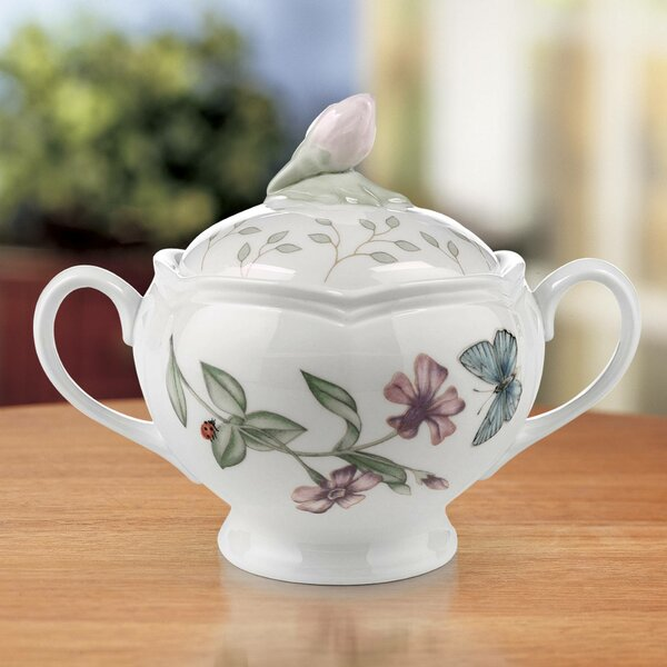 Butterfly Meadow Sugar Bowl with Lid by Lenox