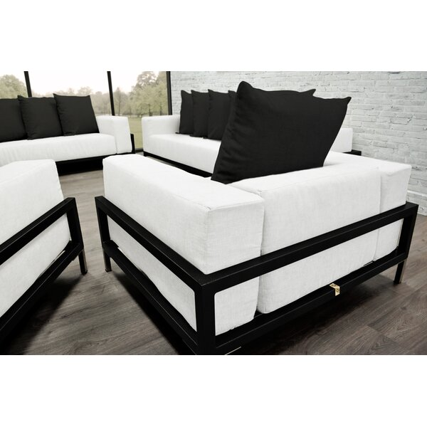 Nubis 3 Piece Sunbrella Sofa Set with Cushions by Solis Patio