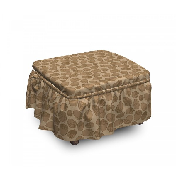 Organic Oak Tree Seeds Ottoman Slipcover (Set Of 2) By East Urban Home