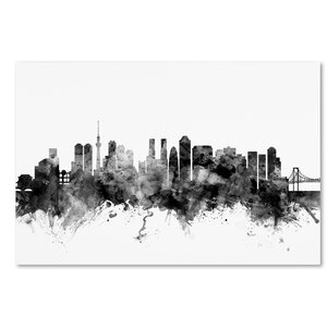 'Tokyo Japan Skyline' Graphic Art on Wrapped Canvas by Ivy Bronx