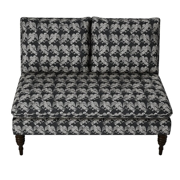 Trace Block Ink Armless Loveseat by World Menagerie