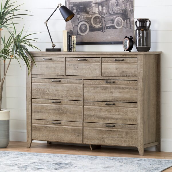 Lionel 9 Drawer Double Dresser by South Shore