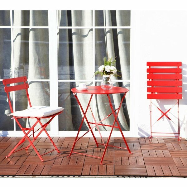 Merrick Road 3 Piece Bistro Set by Wrought Studio