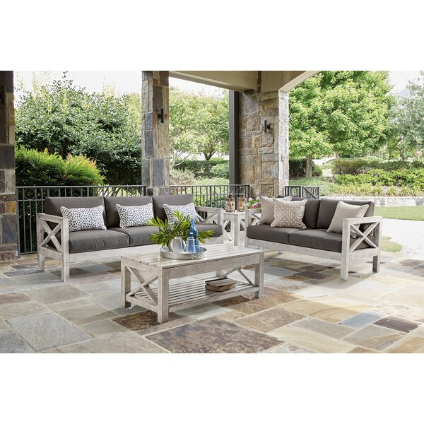 Barden 5 Piece Sofa Set with Sunbrella Cushions by Laurel Foundry Modern Farmhouse