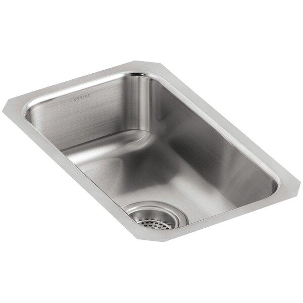 Undertone 10-3/4 L x 17-1/2 W x 5-5/8 Small Squared Under-Mount Single-Bowl Kitchen Sink by Kohler