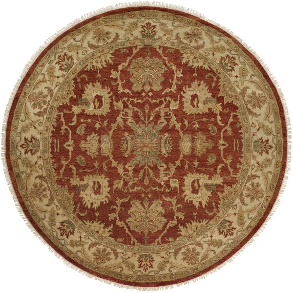 Pichilingue Hand-Knotted Rust/Ivory Area Rug by Wildon Home ®