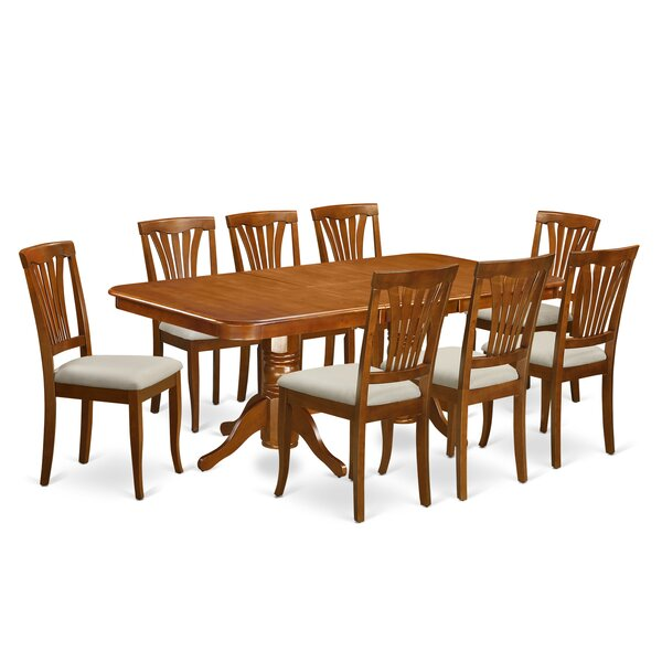 Pillsbury 9 Piece Wood Dining Set by August Grove