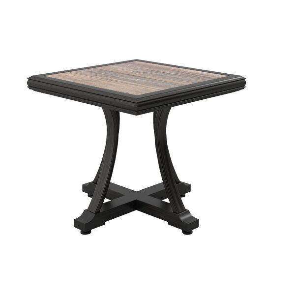 Kohn Aluminum Side Table by Bayou Breeze