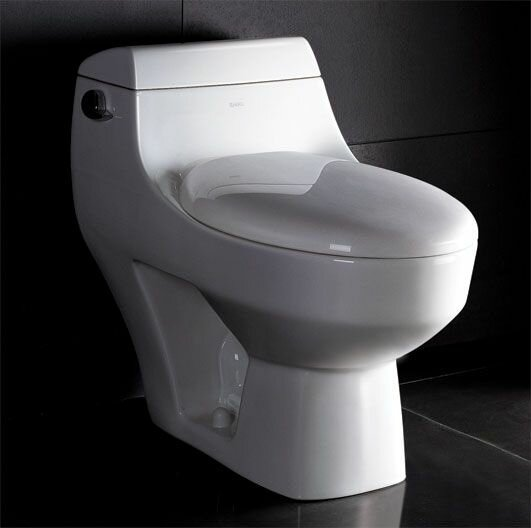 1.28 GPF Elongated One-Piece Toilet by EAGO