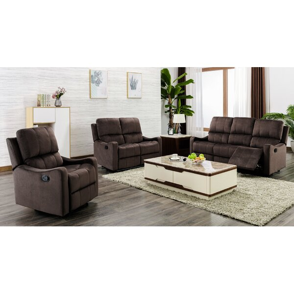 Land 3 Piece Reclining Living Room Set by Red Barrel Studio Red Barrel Studio
