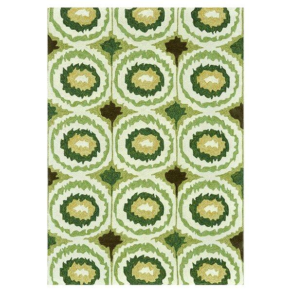 Mosher Hand-Hooked Green Indoor/Outdoor Area Rug by Ebern Designs