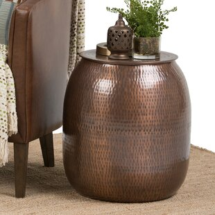 Griffen Metal Storage End Table By Simpli Home