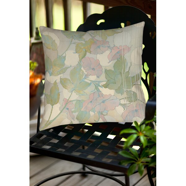 Summer Vine 1 Indoor/Outdoor Throw Pillow by Manual Woodworkers & Weavers