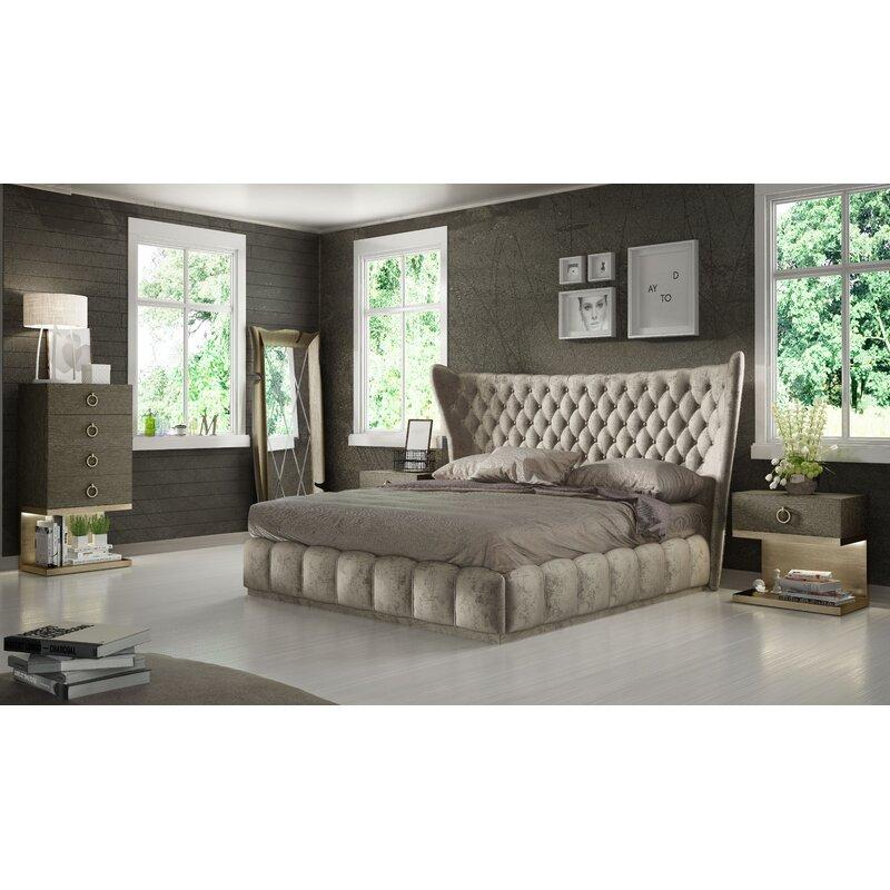 Mercer41 Longville Queen Standard 3 Piece Bedroom Set Wayfair