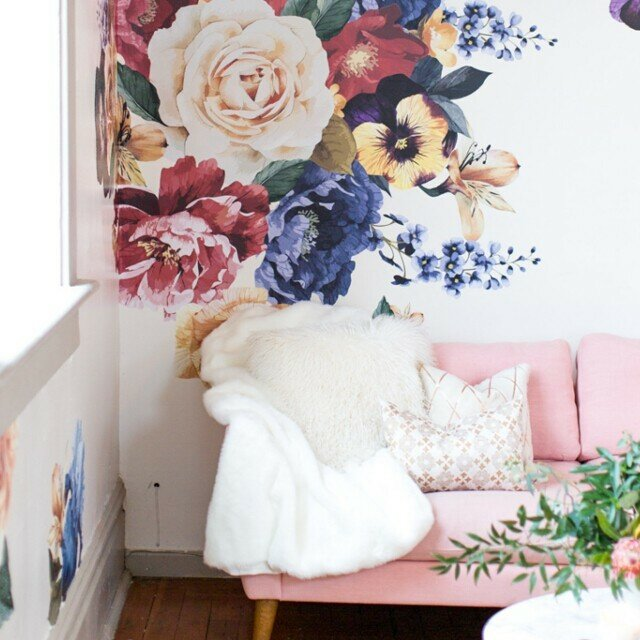 Vintage Floral Wall Decal