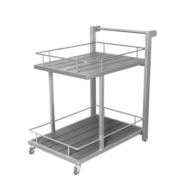 Darion Utilitarian and Sleek Aluminum Bar Cart by Corrigan Studio