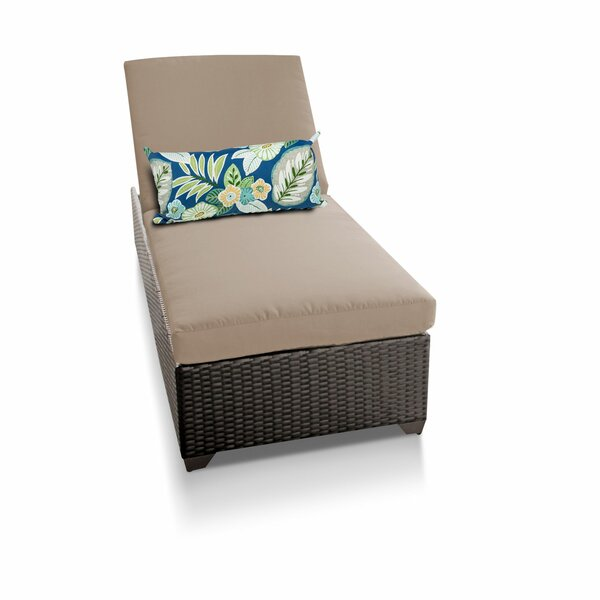 Classic Reclining Chaise Lounge with Cushion by TK Classics
