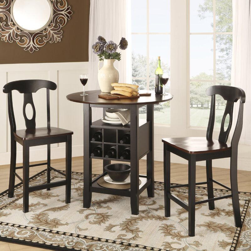 5 Piece Belmont Dining Room Collection: Three Posts Belmont 3 Piece Counter Height Pub Table Set