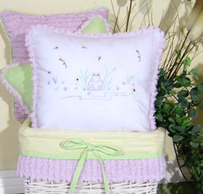 Froggy Decorator Throw Pillow by Brandee Danielle