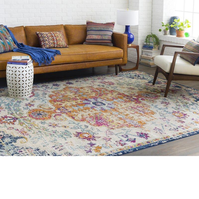 Mistana Hillsby Saffron/Blue Area Rug & Reviews   Wayfair