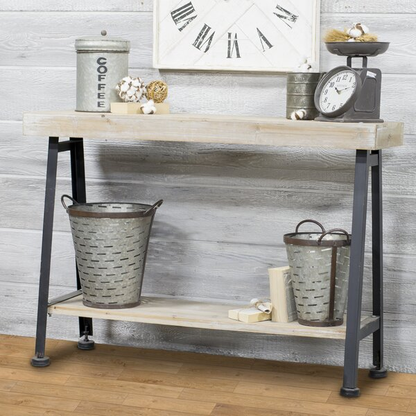 Wooden and Iron Console Table by American Mercantile
