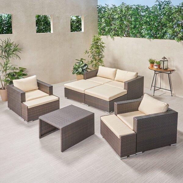 Roselee Outdoor 9 Piece Rattan Sofa Seating Group With Cushions By Brayden Studio by Brayden Studio 2020 Sale