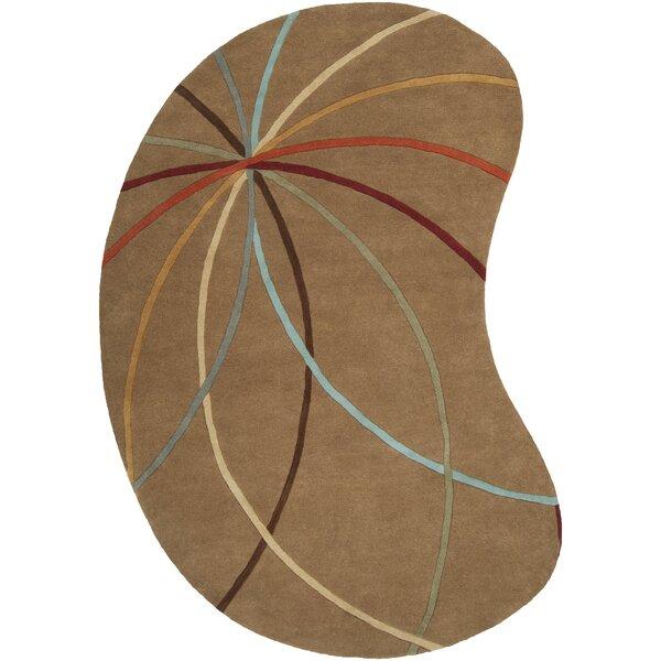 Dewald Mocha Area Rug by Ebern Designs