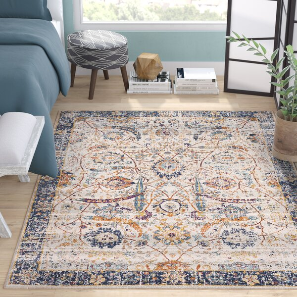 Hillsby Beige/Blue Area Rug by Mistana