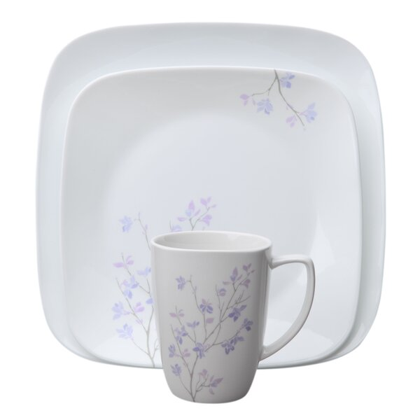 Square Jacaranda 16 Piece Dinnerware Set, Service for 4 by Corelle