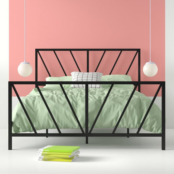 Aleksei Reese Patterned Queen Standard Bed by Hashtag Home