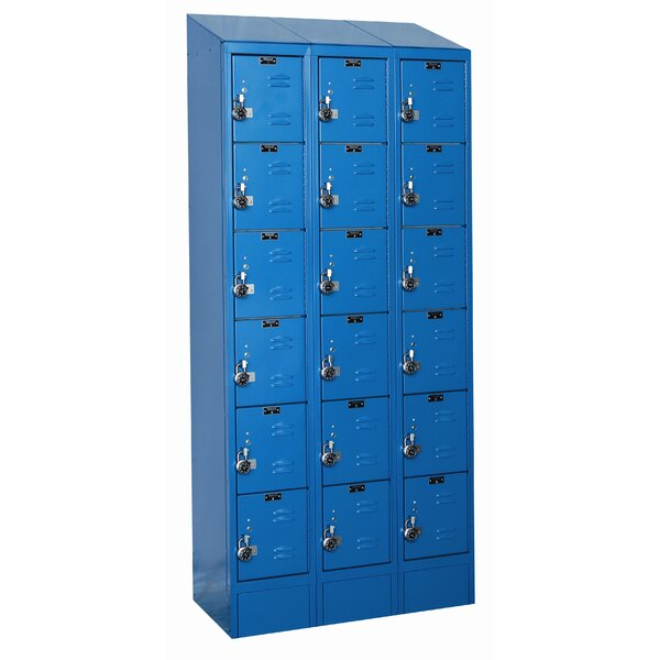 ReadyBuilt II 6 Tier 3 Wide Employee Locker by Hallowell