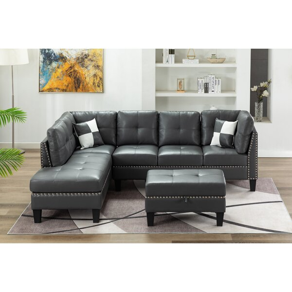 Amita Sectional with Ottoman by Red Barrel Studio Red Barrel Studio