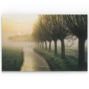'Willow's Lane' Oil Painting Print on Wrapped Canvas by Charlton Home