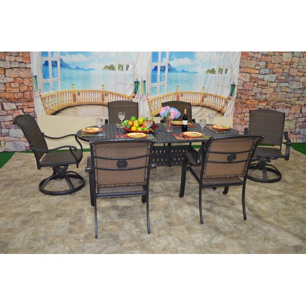 Sherie 7 Piece Dining Set by Darby Home Co