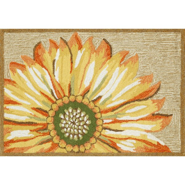 Ismay Sunflower Gold/Yellow Indoor/Outdoor Area Rug By August Grove