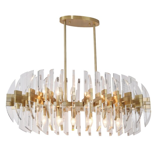 Merry 12-Light Shaded Geometric Chandelier by Everly Quinn Everly Quinn