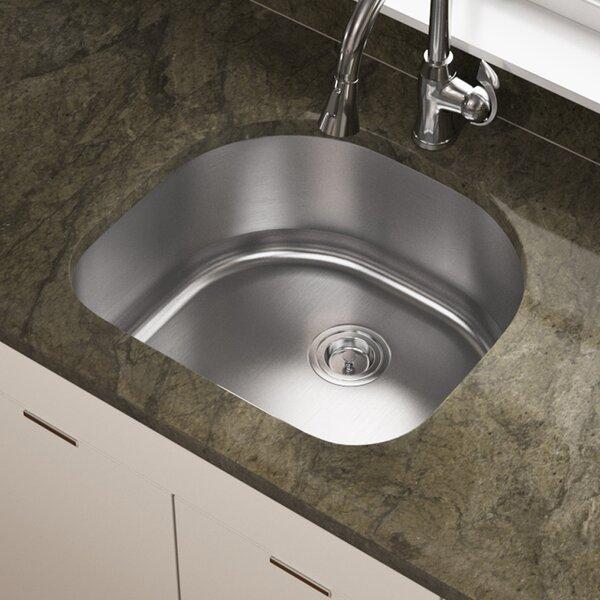 Stainless Steel 24 x 21 Undermount Kitchen Sink by MR Direct