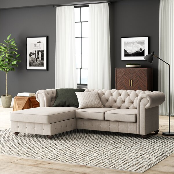 Popular Brand Quitaque Left Hand Facing Sectional by Greyleigh by Greyleigh