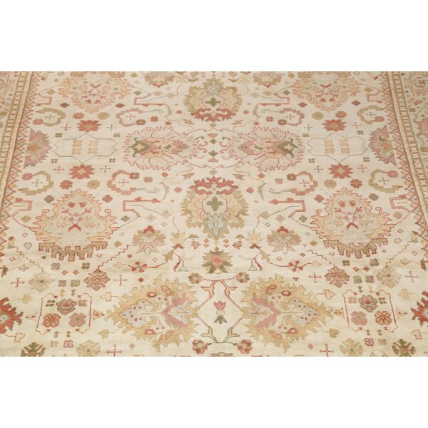 One-of-a-Kind Moira Oushak Agra Stark Red/Burgundy Area Rug by Isabelline