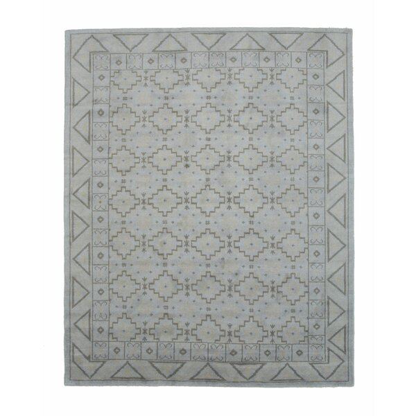 Sivas Hand-Knotted Gray Area Rug by Eastern Rugs