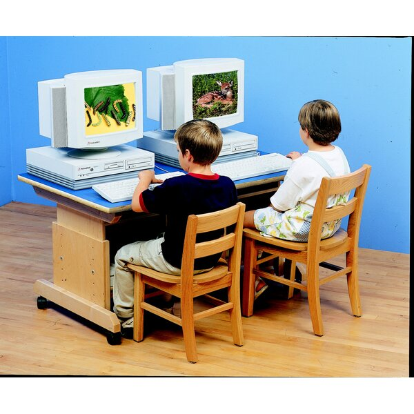 Wood Adjustable Height Student Computer Desk by Childcraft