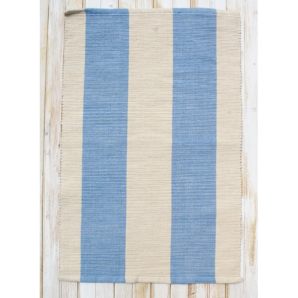 Montauk Blue/Natural Stripe Rug by CLM