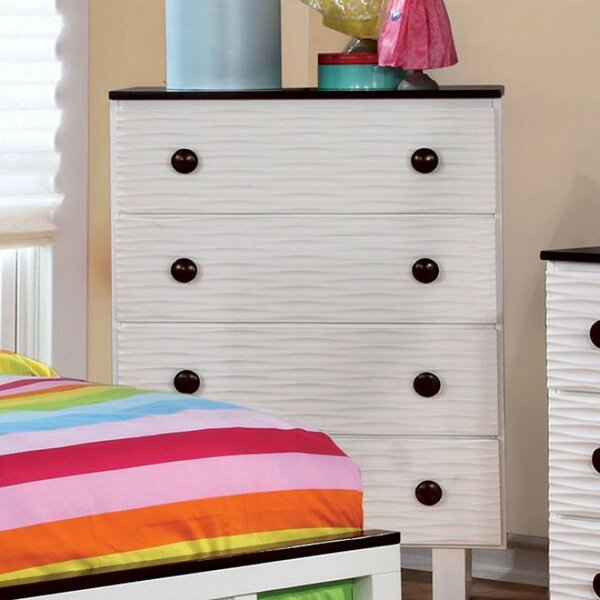 Knauer Wave Textured 4 Drawer Chest by Zoomie Kids