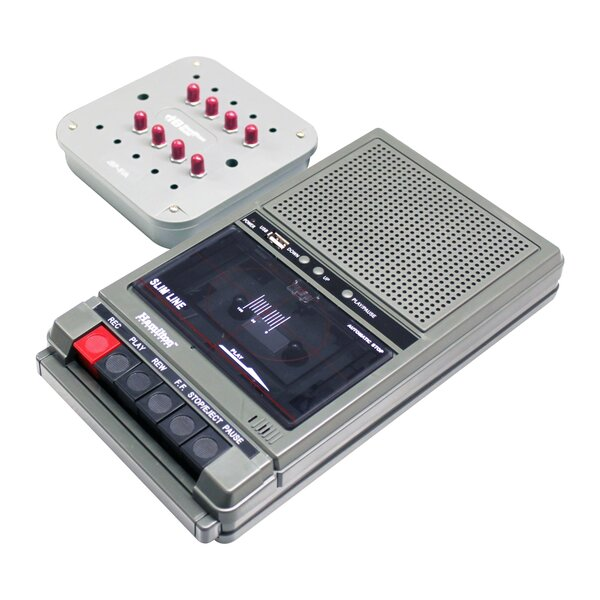 Cassette Player with 8 Position Jack Box by Hamilton Buhl