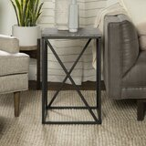 Ziegler Frame End Table with Storage by 17 Stories