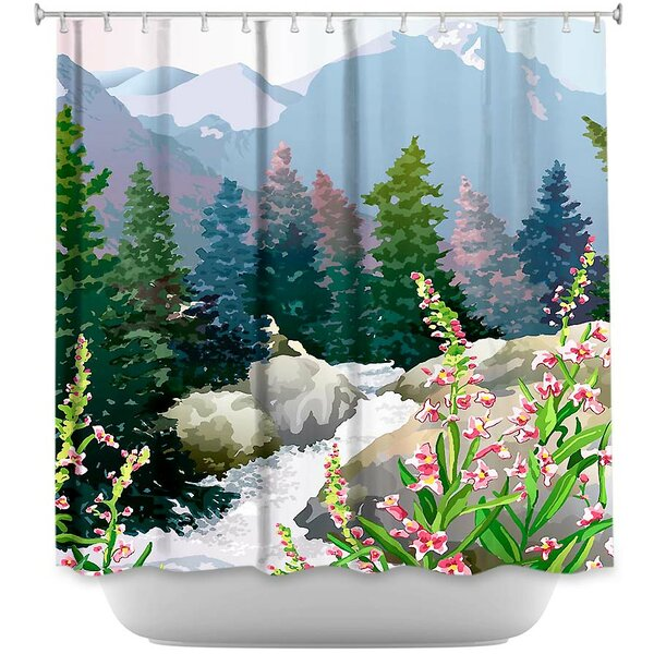 Mountain Stream Shower Curtain by DiaNoche Designs