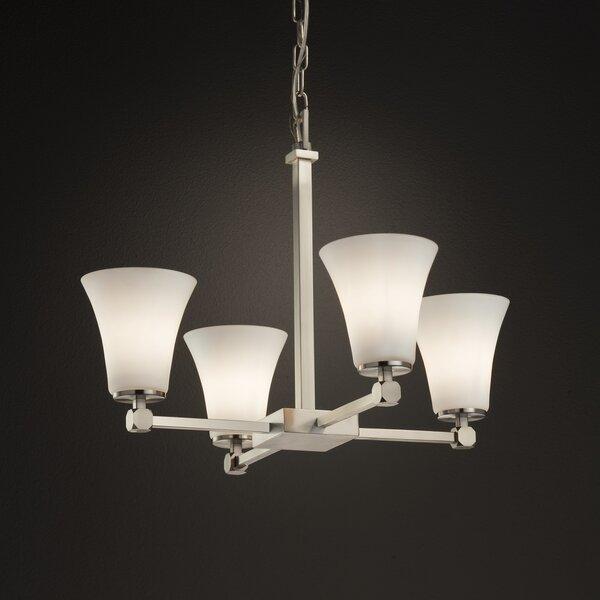 Luzerne 4-Light Shaded Classic / Traditional Chandelier by Brayden Studio Brayden Studio