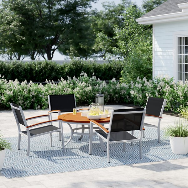 Caspian 5 Piece Seating Group by Sol 72 Outdoor