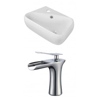 Price comparison Ceramic Rectangular Vessel Bathroom Sink with Faucet and Overflow By Royal Purple Bath Kitchen