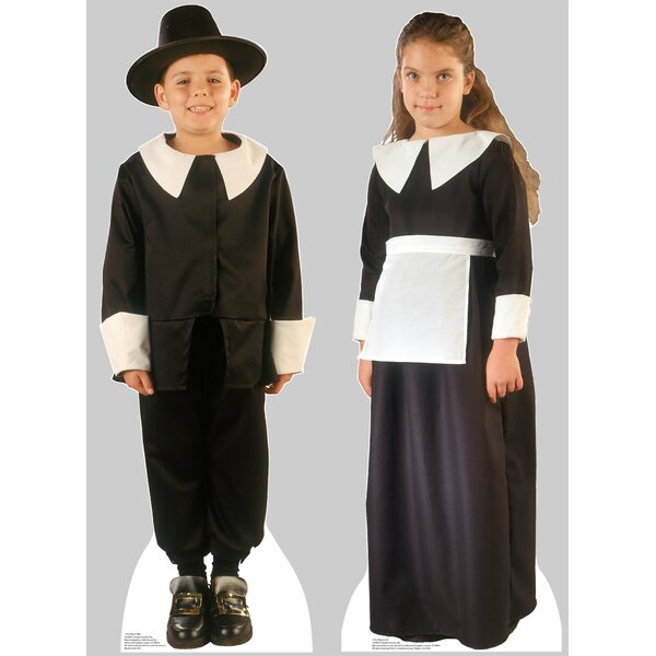 2 Piece Pilgrim Boy and Pilgrim Girl Cardboard Stand-Up Set by Advanced Graphics
